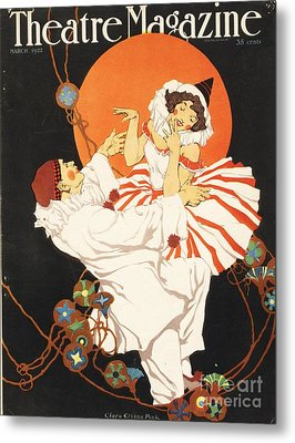 Theatre Magazine 1920s Usa Pierrot Metal Print by The Advertising Archives