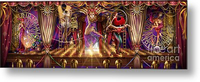 Theatre Of The Absurd Triptych  Metal Print by Ciro Marchetti