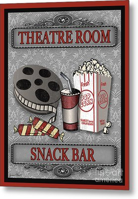 Theatre Room-jp2207 Metal Print by Jean Plout