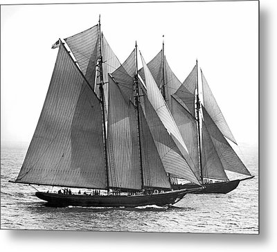 Thebaud Passes Bluenose Metal Print by Underwood Archives