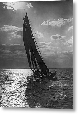 Thebaud Setting Out To Sea Metal Print