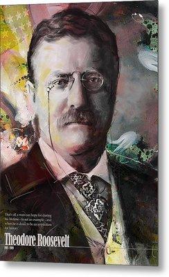 Theodore Roosevelt Metal Print by Corporate Art Task Force