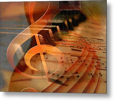 Theoretical Meaning Of Music Metal Print by Georgiana Romanovna