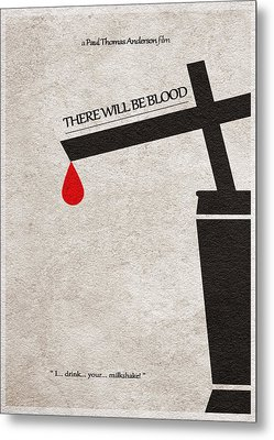 There Will Be Blood Metal Print by Ayse Deniz