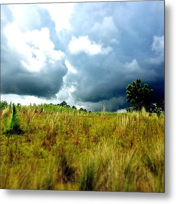 There's A Storm Brewing!!! #golf Metal Print by Scott Pellegrin