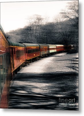 There's A Train A Comin' Somewhere Around The Bend Metal Print by Steven Digman