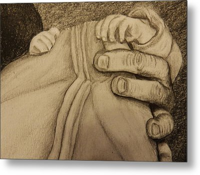 These Are The Hands That Love Me Metal Print