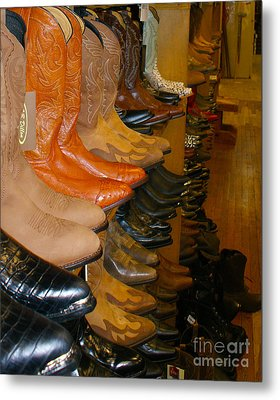 These Boots Metal Print by B Wayne Mullins