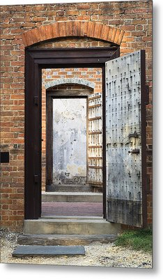 These Doors Lead To Nowhere Metal Print