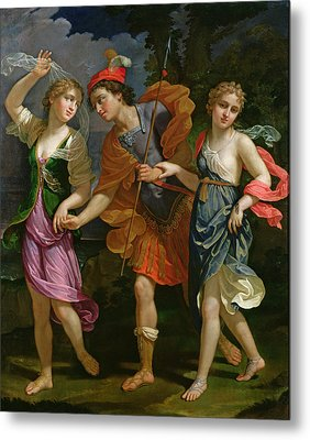 Theseus With Ariadne And Phaedra, The Daughters Of King Minos, 1702 Metal Print