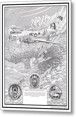 They All Lived Crash Of Boeing B 17 And Me 109 Metal Print by Jack Pumphrey