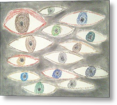 They Are Watching You Metal Print by Judith Moore