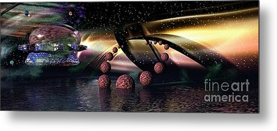 They Came From Outer Space Metal Print by Jacqueline Lloyd