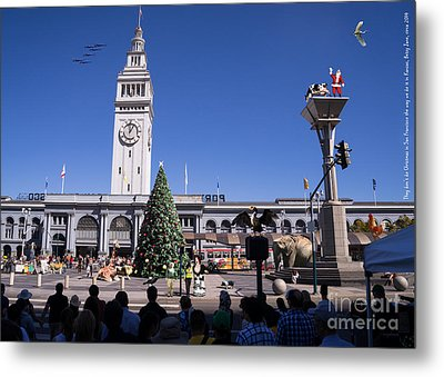 They Dont Do Christmas In San Francisco The Way We Do It In Kansas Betsy Jane Dsc1745 Metal Print by Wingsdomain Art and Photography