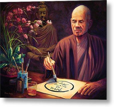 Thich Nhat Hanh Metal Print by Steve Simon