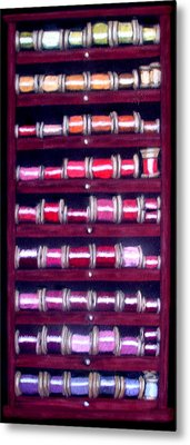 Metal Print featuring the drawing Thimbles In Cabinet by Joseph Hawkins