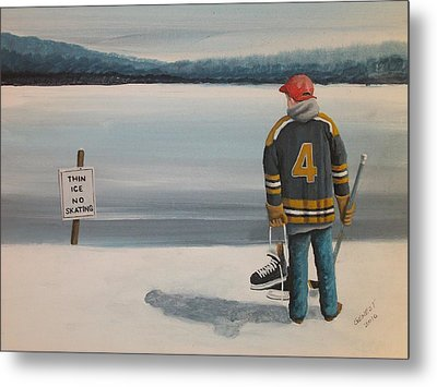 Thin Ice -  Bobby Metal Print by Ron  Genest