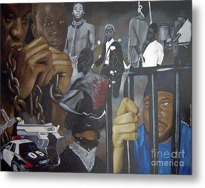 Think Black Man Metal Print by Chelle Brantley