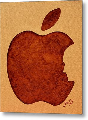 Think Different Steve Jobs 3 Metal Print by Georgeta  Blanaru