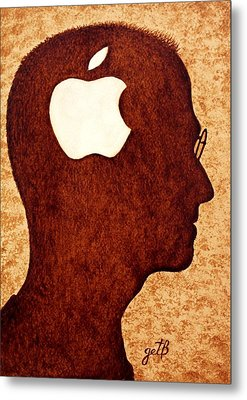 Think Different Tribute To Steve Jobs Metal Print by Georgeta  Blanaru
