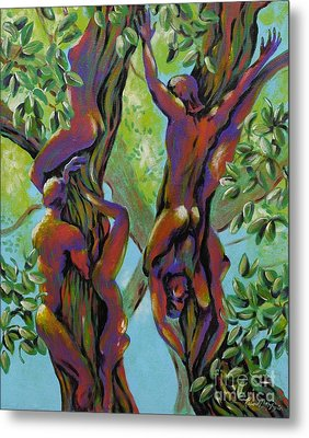Metal Print featuring the painting Think Like A Tree by Robert D McBain