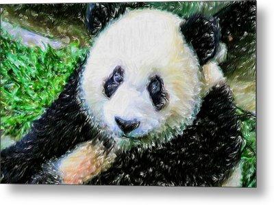 Thinking Of David Panda Metal Print by Lanjee Chee