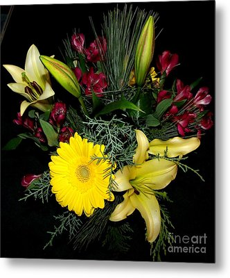 Thinking Of You Bouquet Metal Print by Gail Matthews