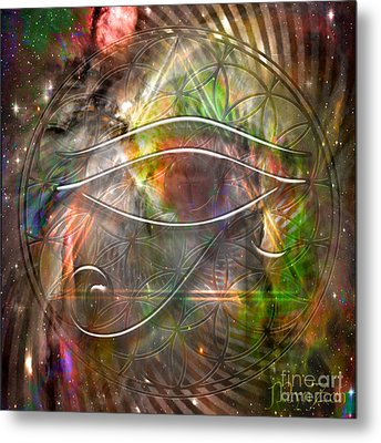 Third Eye Metal Print by Mynzah Osiris