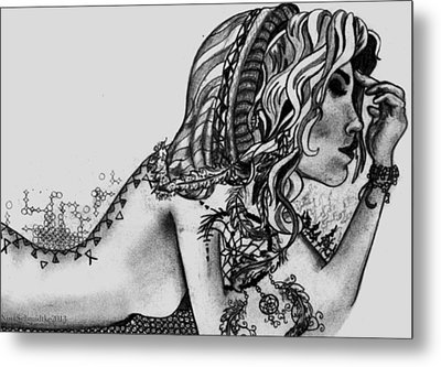 Third Eye Metal Print by Nina Schmidtke