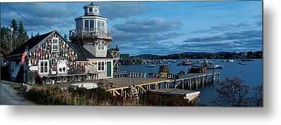 This Is A Lobster Village In New Metal Print