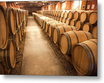 This Is A Storage Area For Wine Metal Print by Mallorie Ostrowitz