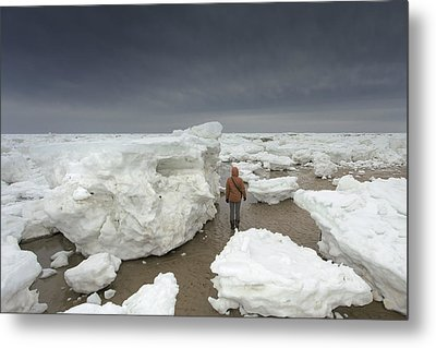 This Is How Thick Ice In Wellfleet Cape Cod Metal Print