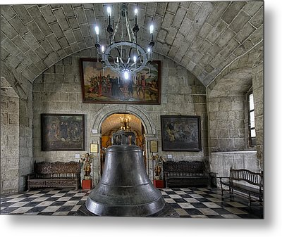 This Is The Philippines No.89 - San Agustin Church Bell Metal Print by Paul W Sharpe Aka Wizard of Wonders