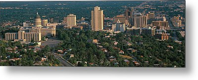 This Is The State Capitol And Skyline Metal Print by Panoramic Images