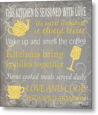 This Kitchen Is Seasoned With Love Metal Print