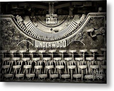 This Old Typewriter Metal Print by Paul Ward
