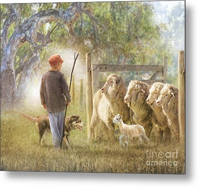 This Way Please ..... Metal Print by Trudi Simmonds