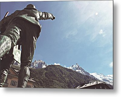 This Way To The Aiguille Du Midi Metal Print by Cendrine Marrouat