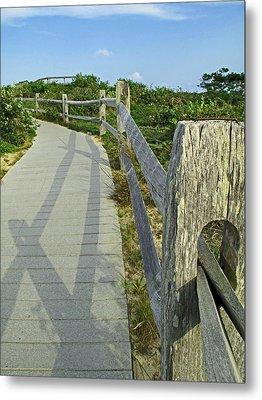 This Way To The Beach Metal Print by Barbara McDevitt