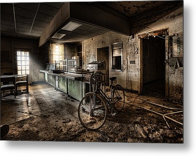 This Would Be The End - Cafeteria - Abandoned Asylum Metal Print by Gary Heller