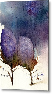 Metal Print featuring the painting Thistle Weather by Anne Duke