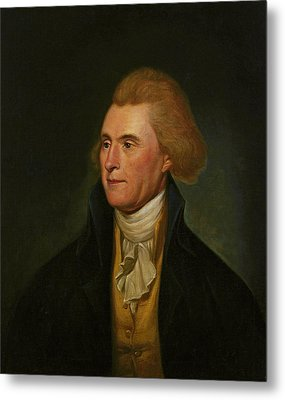 Thomas Jefferson Metal Print by Charles Wilson Peale