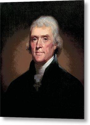 Thomas Jefferson Metal Print by Daniel Hagerman