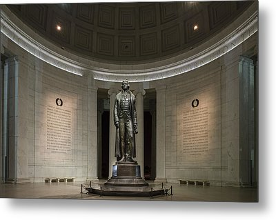 Thomas Jefferson Memorial At Night Metal Print by Sebastian Musial