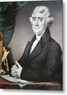 Thomas Jefferson Metal Print by Nathaniel Currier