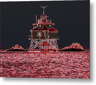 Thomas Point Light House Metal Print