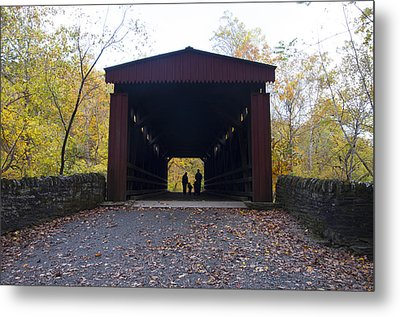 Thomas's Covered Bridge - Family Walk Metal Print