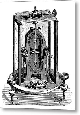 Thomson Galvanometer Metal Print by Science Photo Library