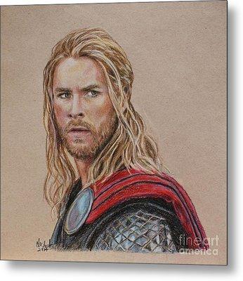 Thor Metal Print by Christine Jepsen