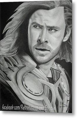 Thor Odinson - Chris Hemsworth Metal Print by Enrique Garcia